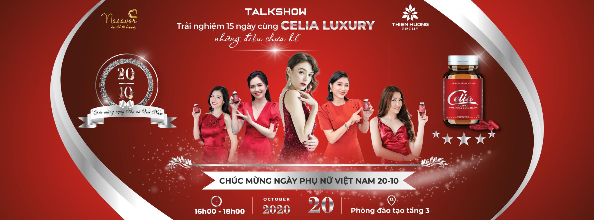 """Talkshow """"Trải nghiệm 15 ngày cùng Celia Luxury – những điều chưa kể"""" và Chào mừng ngày Phụ nữ Việt Nam 20/10"""